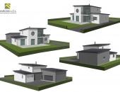 Maison 3 D moderne