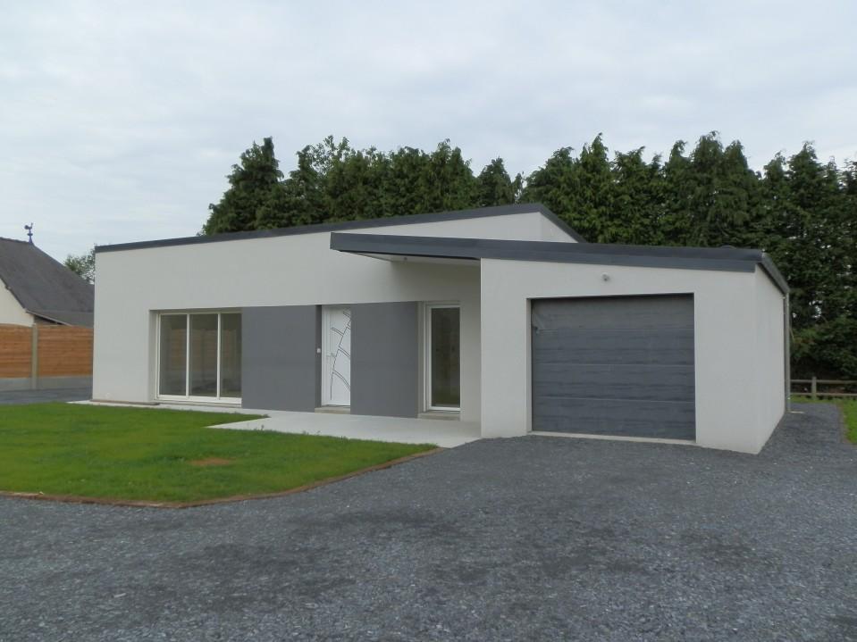 Maisons contemporaines plain pied maisons lcl entreprise g n rale de b timent - Maison plain pied toit monopente ...